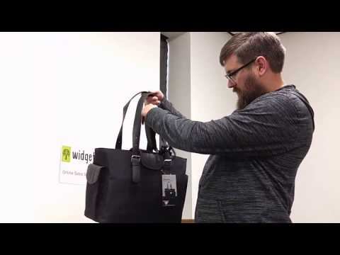 """Women In Business Liberator LIBDL1 Black Fashion Notebook Organizer Carrying 16.1"""" Tote Unboxing"""