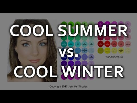 Cool Summer vs Cool Winter - Seasonal Color Analysis