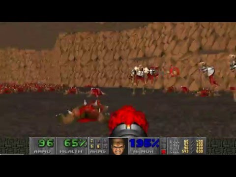Doom 2: Okuplok Slaughter Map, UV-MAX [TAS] in 2:47:52