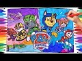 PAW PATROL AIR and SEA Adventures Coloring Pages | Paw Pups Coloring Memorable scenes for Kids