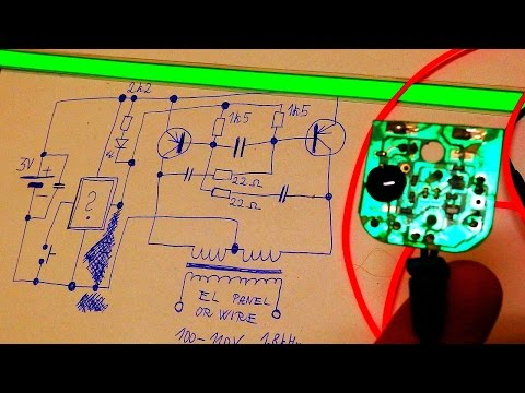 EL Panel, Wire and Driver Teardown with Schematic and  Funny Moment