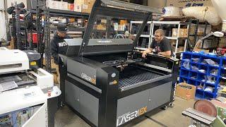 Assembling the new Laguna Smartshop Laser EX at SMD HQ