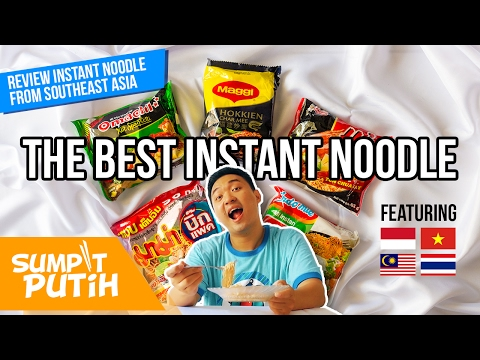 INDOMIE VS INSTANT NOODLES FROM AROUND ASIA! (MAGGI MALAYSIA, VIETNAM, MAMA THAILAND) | SUMPIT PUTIH