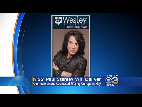 KISS' Paul Stanley Will Deliver Commencement Address At Wesley College