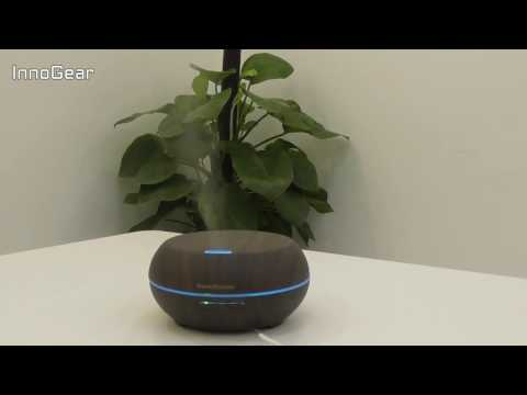 how-innogear-200ml-wood-grain-essential-oil-diffuser-works-with-color-changing-(dark)