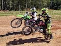 Dirt Bike Fun SSR 140tr Vs Kawasaki KLX 140 New Location mp3