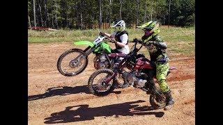 Dirt bike Fun! SSR 140tr vs Kawasaki KLX 140 New Location!!