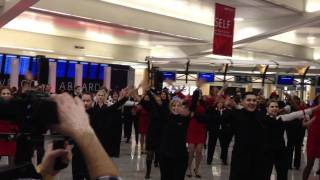 Flashmob by Delta Flight Attendants in ATL .MOV