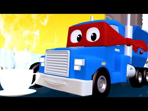 The Hot COCOA MACHINE - Carl the Super Truck in Car City | Children Cartoons