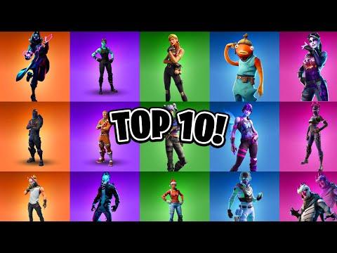 Top 10 Best Skins In Fortnite? (Top 10 BEST Fortnite Skins)