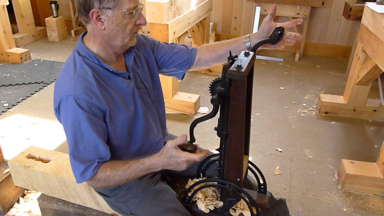 Using An Antique Beam Drill Timber Framing Class Youtube