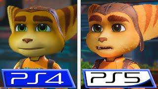 Ratchet & Clank PS4 vs Ratchet & Clank: Rift Apart PS5 | FacetoFace | Graphics & Details Comparison