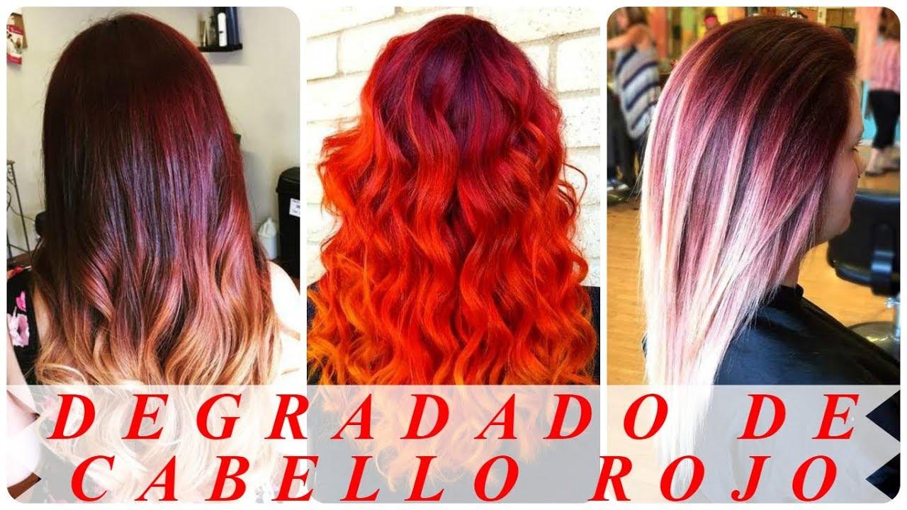 Peinados Bellos Degradado De Cabello Rojo Youtube