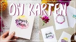 DIY Ideen: Karten selber gestalten zum MUTTERTAG (oder Vatertag) | einfach & günstig