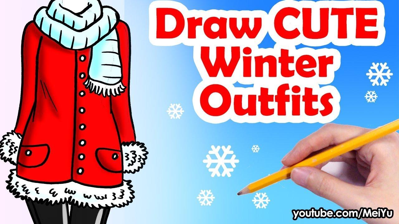 [VIDEO] - How to Draw 2 Cute Winter Outfits | Mei Yu Fun2draw 2