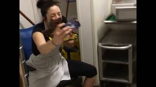 Cake Smashes into Woman