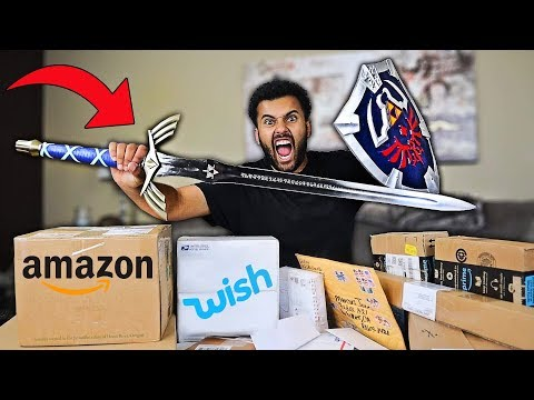 Someone Sent Me MYSTERY Packages Filled With Rare VIDEO GAME WEAPONS!! *You Won't Believe It...*