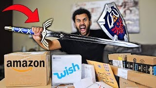 Someone Sent Me MYSTERY Packages Filled With Rare VIDEO GAME WEAPONS!! *You Won