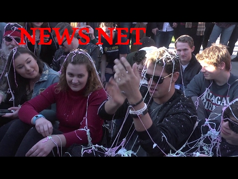 MILO And College Republicans Recreate Infamous UC Davis Pepper Spray Incident With Silly String!