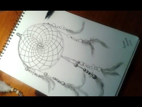 Drawing A Dream Catcher Dibujando Un Atrapasueños Youtube