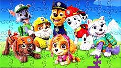 Jogo de Quebra-Cabeça da Patrulha Canina videos para crianças de Brinquedos Quebra Cabeça infantil