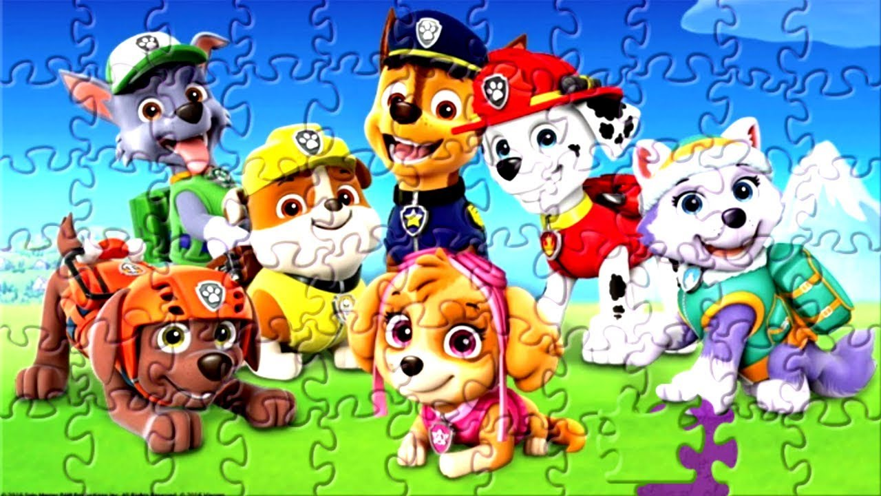 Jogo De Quebra Cabeca Da Patrulha Canina Videos Para Criancas De