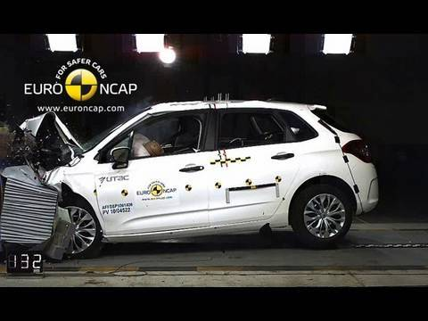 2011 citroen c4 crash test youtube. Black Bedroom Furniture Sets. Home Design Ideas
