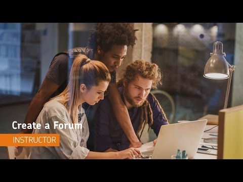 Discussions - Create a Forum - Instructor