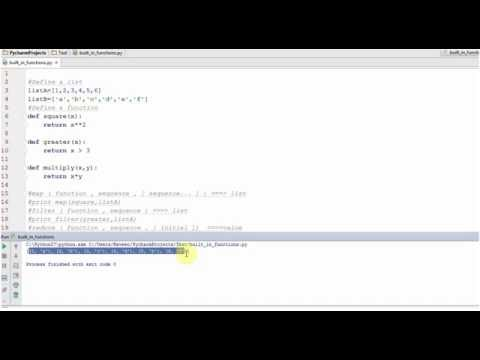 Python Tutorial for Beginners and Interview questions: map