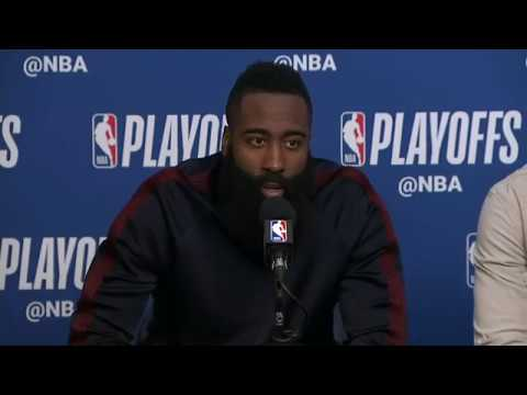 James Harden Chris Paul and Eric Gordon Postgame Interview | Rockets vs Jazz Game 3