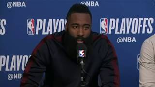 James Harden,, Chris Paul and Eric Gordon Postgame Interview | Rockets vs Jazz Game 3