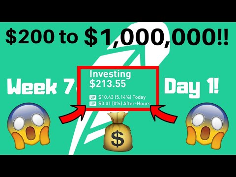 My JOURNEY To $1,000,000 Trading Stocks (Robinhood App) Week 7, Day 1 Swing Trading!!