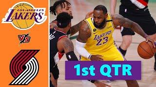 Download Los Angeles Lakers vs. Portland Trail Blazers Full Highlights 1st Quarter   NBA Season 2021