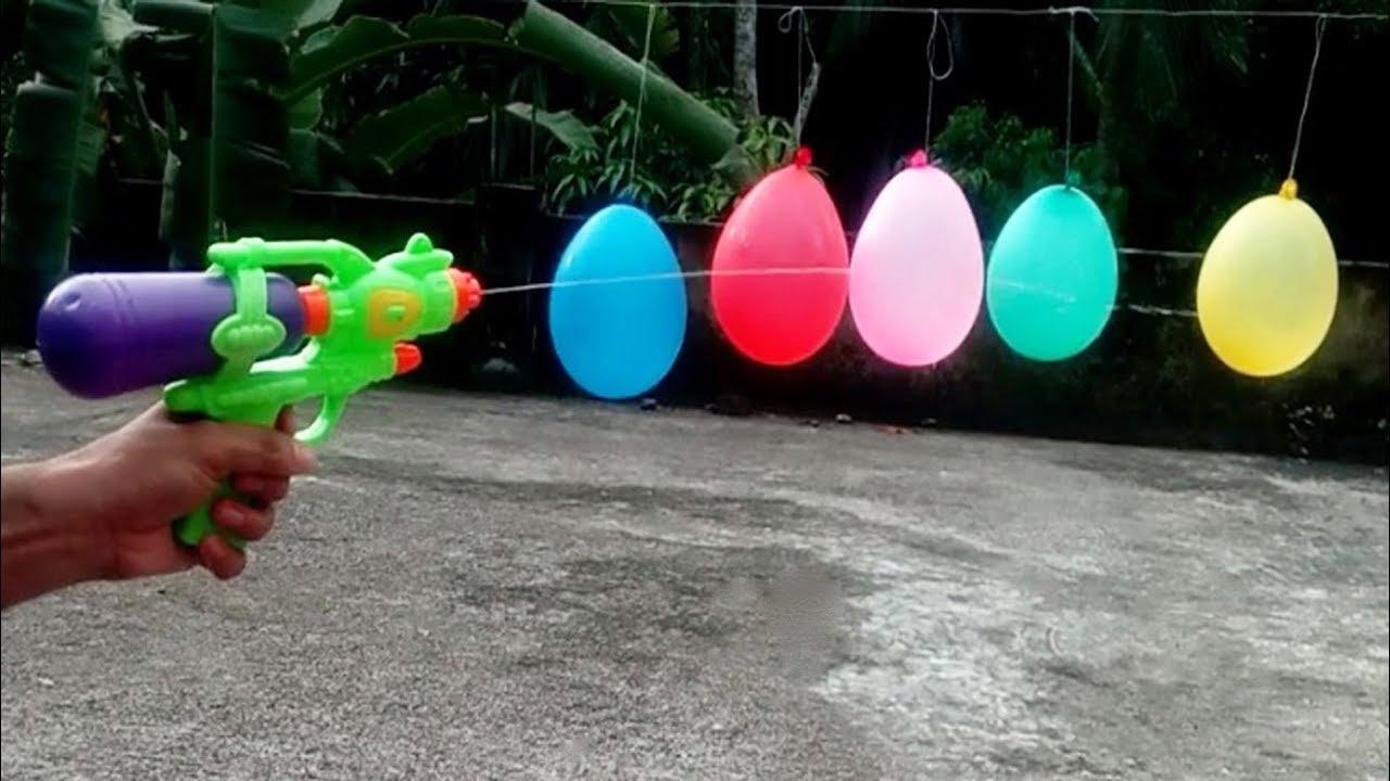Experiment Toy Gundiverse Liquidwater Vs Balloon Gun Balloon