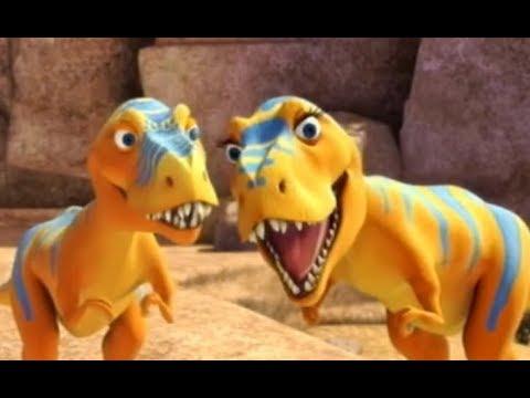 Поезд динозавров Бадди встречает тиранозавров Мультфильм про динозавров