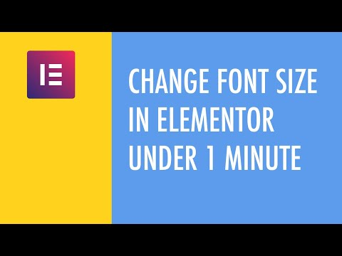 Change Font Size In Elementor Under 1 Minute thumbnail