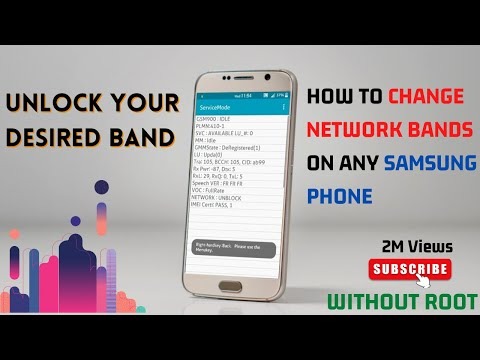 How To Change Network Bands on Any Samsung Phone Without Root || Read  Description For More Info