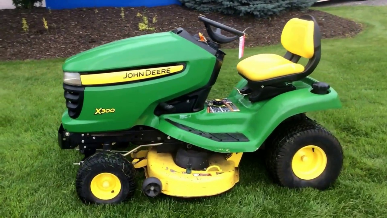 john deere x300 riding lawn mower for sale online. Black Bedroom Furniture Sets. Home Design Ideas