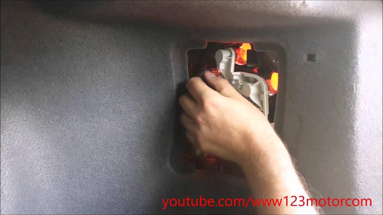 How to DIY Volvo S40 Change rear taillight light bulbs 2004-2012 maintenance - YouTube