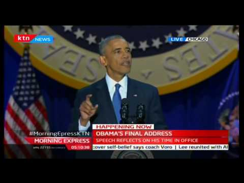 Barrack Obama's final address as he reflects on his time in office