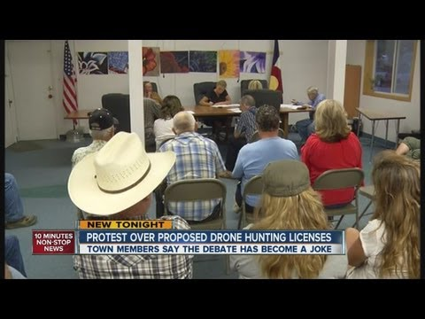 Drone Hunting Town Residents Upset Over Proposed License