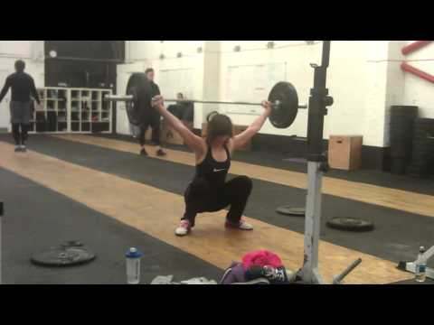 Lauren snatches 50kg