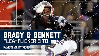 Flea-Flicker Sets Up Tom Brady's Dime to Martellus Bennett for the TD! |