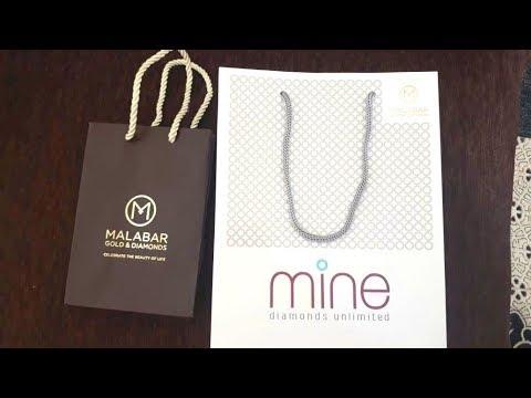 Malabar Gold And Diamonds Review   MINE Diamonds   Unboxing Diamond Earrings 