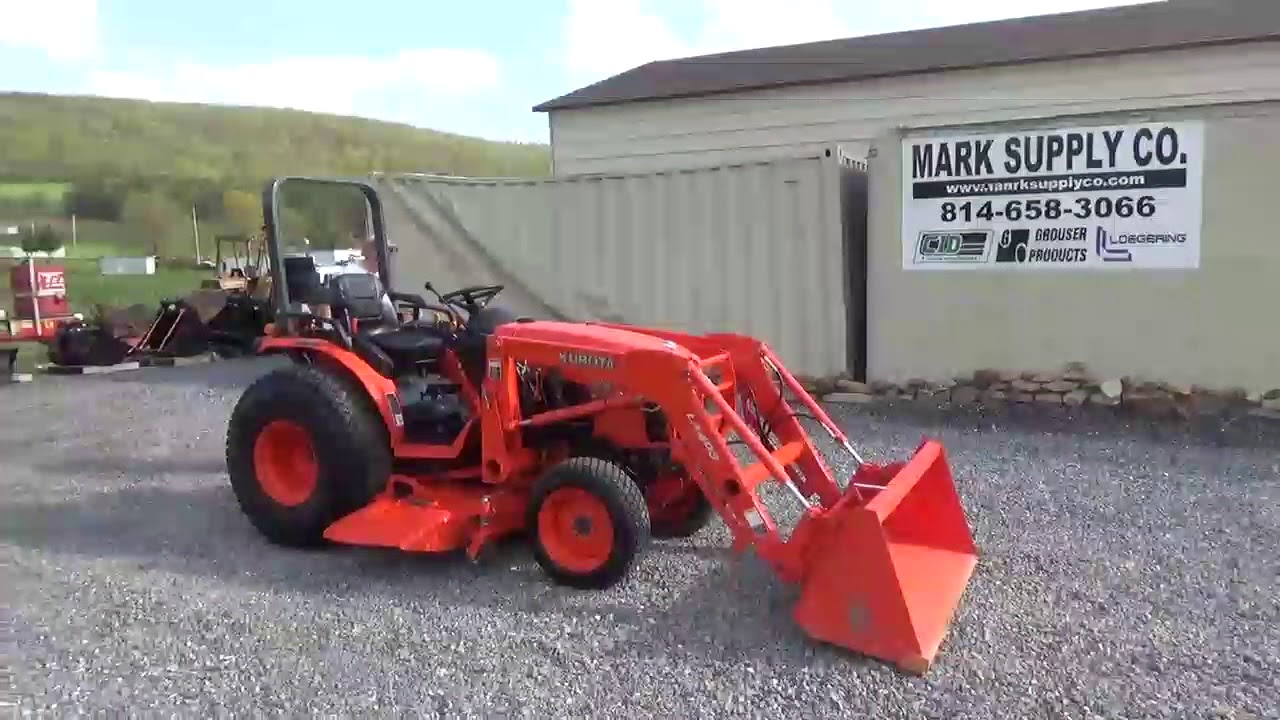 2010 Kubota B3030 Compact Tractor Loader Belly Mower For Mark Supply Co