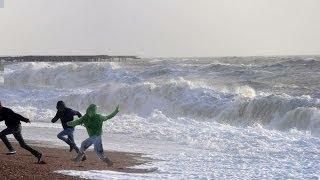 vuclip ATENCION a la ola gigante: Temporal 2014 olas temporal ondas marea