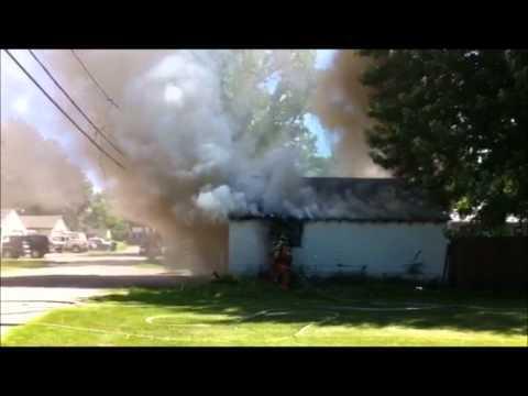 Saint Paul Park Garage Fire July 2, 2011