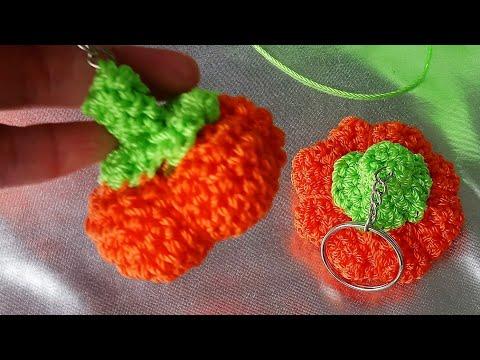 Crochet Pink Strawberry keyring Crochet Strawberry keychain | Etsy | 360x480