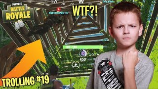 UNDER THE MAP TROLLING TEAMMATES ON FORTNITE - ANGRY KID ON FORTNITE RAGES (Fortnite Trolling)