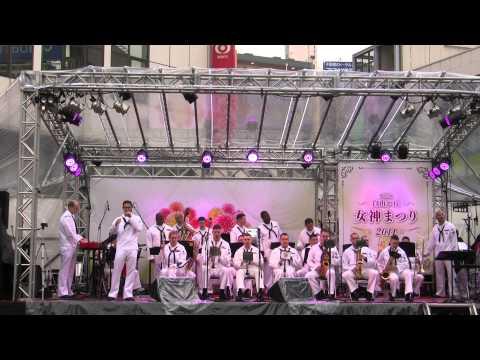 US Navy 7th Fleet Band at Jiyūgaoka, Tokyo 2014